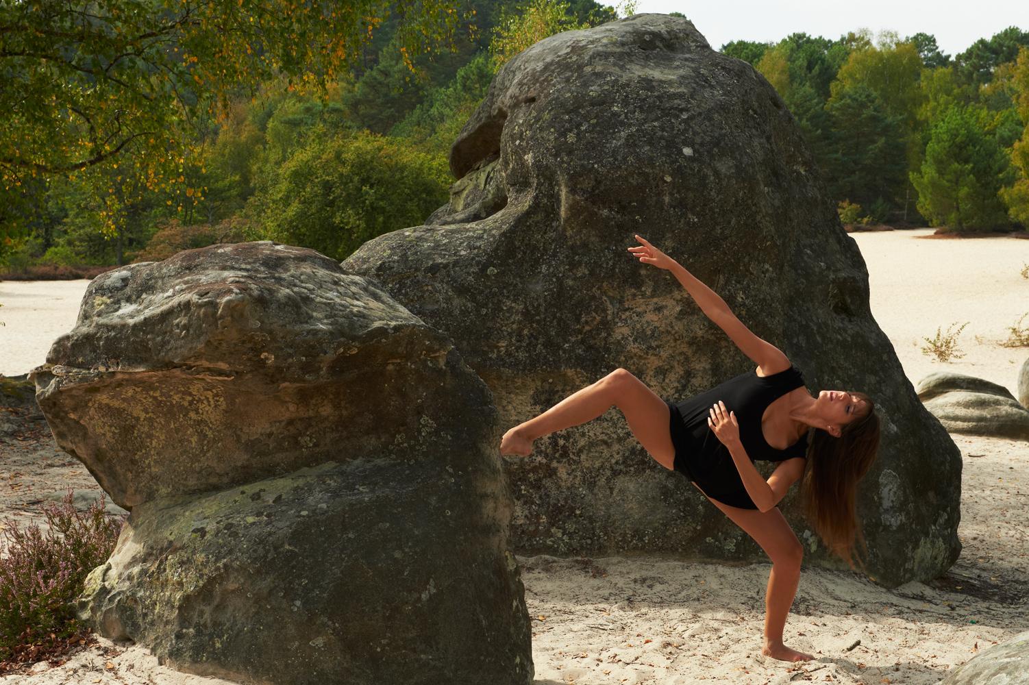 La danseuse Yessenia en improvisation