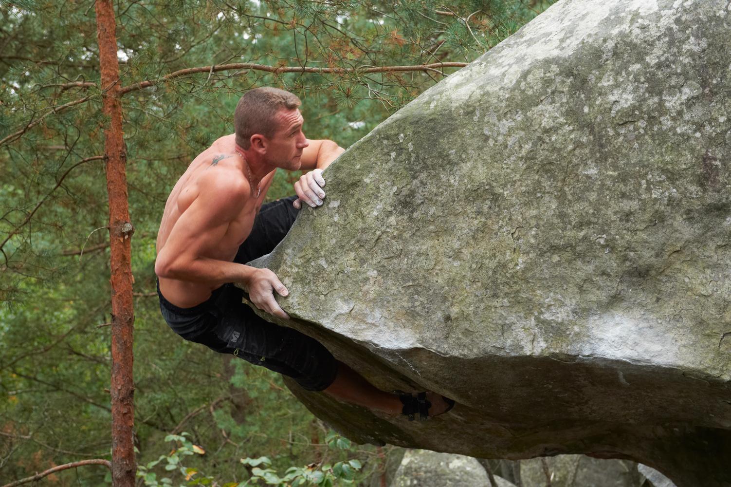 Escalade de bloc à Fontainebleau