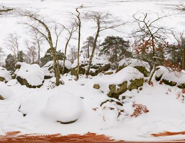 Miniature Fontainebleau hiver