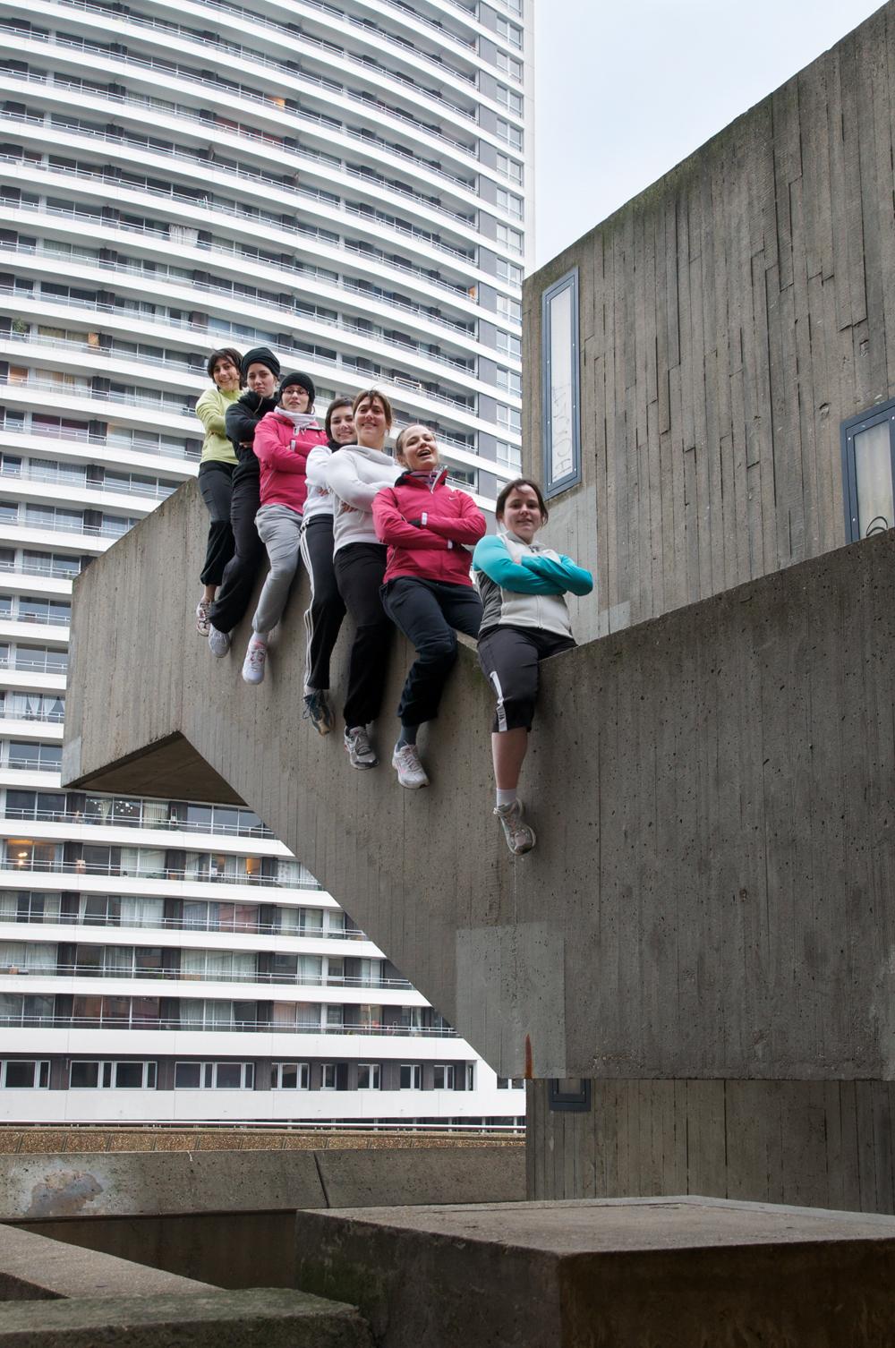 Parkour, sport urbain à Paris