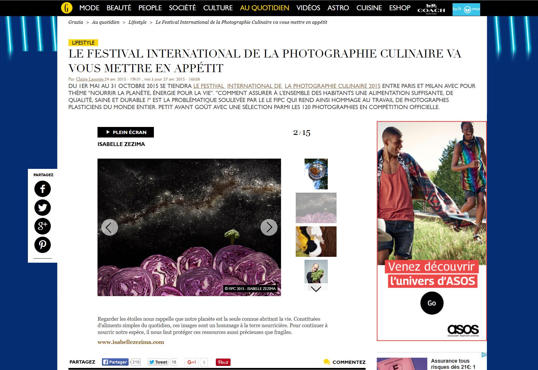 """Site web de Grazia - FIPC-2015- """"Nourrir la planète, energie pour la vie"""""""